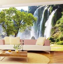 Custom photo wallpaper Large 3D Living room sofa stereoscopic 3D landscape scenery wallpaper  3d mural wallpaper(China (Mainland))