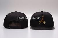 Brand Tha Alumni snapback cap bboy gold metal leather hip hop hat black snap back hiphop hats Sport Hat Baseball Caps for men