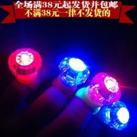 Flash diamond ring led finger lights ring light novelty gift