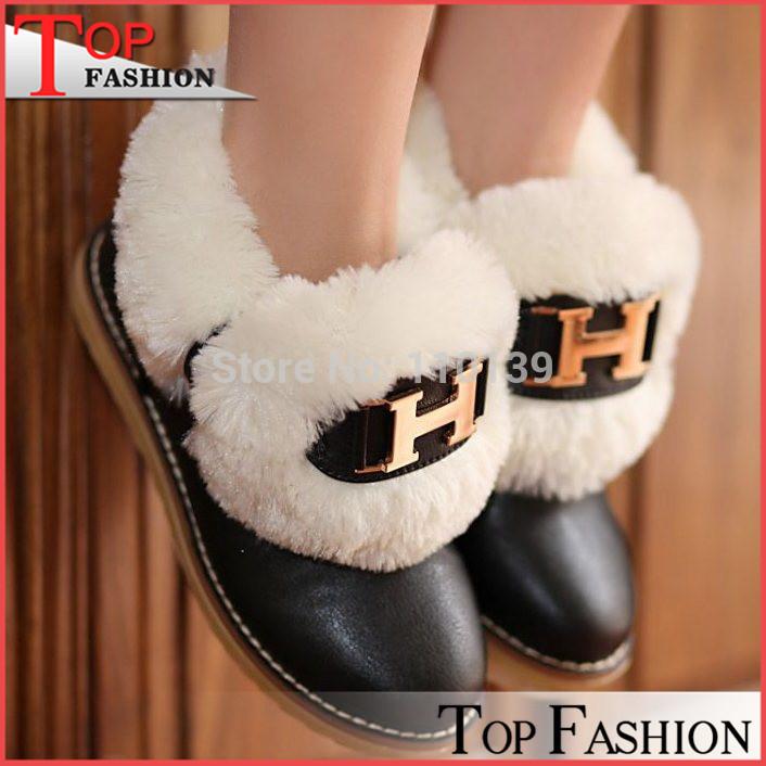 Mode femmes bottines 2014 épais chaude doublure en fourrure bottes d'hiver pour femmes tenue décontractée froid, hiver, ra1287 chaussures d'extérieur