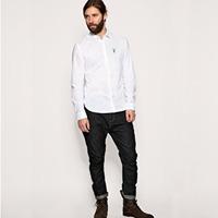 2014 All saints jemmied bakham male 100% Oxford silk cloth cotton long-sleeve shirt top slim thick shirt