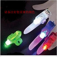 Led finger lights flash ring light colorful laser light gift birthday child small commodities toy