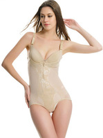 Ultra-thin Fat Burn Toning Bodysuits Body Shaper Carry Buttock Triangle Corsets  ladies shapewear with Zipper