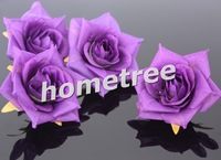 24pcs/lot 7cm silk flower rose heads Purple available wedding decoration favors