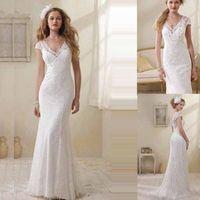 New sexy lovely lace mermaid wedding dress custom size