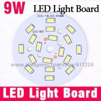 9W Pure White 6000K LED Light Board 5730 SMD+ Aluminum Base Plate PCB 65mm