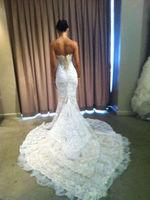 2014 white/ivory lace wedding dress custom size