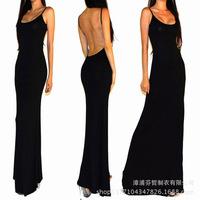 2014 freeshipping natural vestidos winter sexy minimalist backless open back jersey resort long maxi dress xssml evd1001