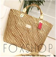 2014 New VS Women's Shoulder Handbag Tote Bags Straw Bag Women Summer Beach Rattan Bag Woven Bag
