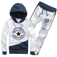 Five-Pointed Star Printing The New High Quality Pure Cotton Fashion Men Hooded Sports Suits, Sports Fleece Suits  TZ502
