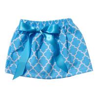 2014 New Baby Clothing Quatrefoil Baby Tu Tu Skirt For Girls