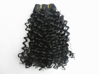 5PACKS/LOT Synthetic Hair extension Black Jerry Curly hair weaving  free shipping