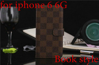 "Newest High Quality Luxury Leather Wallet Stand Case for iPhone 6 6G 4.7"" Apple Phone Bag Cover with Card Slot Book Style"