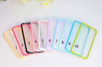 10PCS/lot For Samsung S5 TPU + PC Matte Clear Hard Case For Samsung Galaxy S5 i9600 10 Different Colors Freepshipping