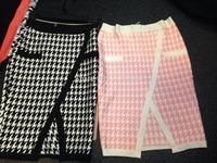Free shipping 2014 New arrival Women's jacquard black pink cut out Bandage skirts Dress HL Evening Dresses HL