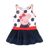 2014 Vest Dress 2-6 Years Old Summer Sleeveless  Baby Girls Dresses Peppa Pig Dress