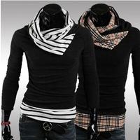 fashion Men 's sweater,  sweater Male colorant match turtleneck slim sweater outerwear Pullovers,Size:M~XXXL fashion