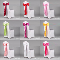 Factory Price! 100pcs/Lot! Stain CHAIR COVER BOWS WEDDING SASHES,17*275cm for wedding Free Shipping
