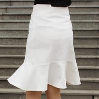 2014 summer women fashion skirts slim step skirt for women package hip knee wrap ruffles skirt fishtail skirt plus size women