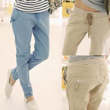 2015 бесплатная брюки лучше свободного покроя женщин летом Большой размер брюки женские ...