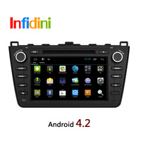 Pure Android 4.2 Mazda6 Mazda 6 2009- 2014 dvd gps with 3g WiFi Radio+Capacitive Screen +Wifi Adapter gift+Reverse Camera gift