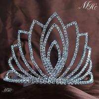 Classy Austrian Rhinestones Crystal Tiara With Hair Combs Wedding Bridal Pageant Crown Clear Crystal Women Fashion Jewelry