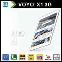 VOYO X1 9.7 inch Tablet PC 1024*768 IPS Screen MTK8382 Quad Core 1.3GHz 1GB/32GB 2.0MP/8.0MP Dual Camera Wifi Bluetooth GPS 50JP