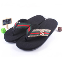 Free shipping  2014Fashion summer  brand beach  shoes flat casual female slippers Flip-Flops flat sandals Men shoes