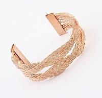 YXSP4701     2014 new fashion    Personalized woven twist opening    Bracelets for women