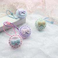 Harajuku soft hair accessory hair accessory ice cream soft amo macaron hairpin hair pin hair ring rope