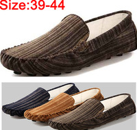 Men Moccasins genuine leather casual shoes fashion mens Striped print lazy flat casual leather shoe free shipping