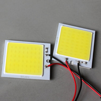 free shipping Wholesale White 4W COB Chip LED Car Interior Light T10 Festoon Dome Adapter 12v, Car Vehicle LED Panel size 24*28