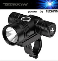 (U2 headlights) 21113 TECHKIN CREE-U2-T6 lamp headlight headlight  /glare 1500 lumens bicycle lamp