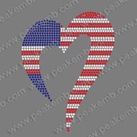 Hotsale Cheap Price 50Pcs/Lot July 4Th Rhinestone Applique Hot Fix Motif Designs Iron On Transfer Free Shipping
