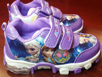 Retail Frozen Sport Shoes Casual Shoes Girls Sneakers Children's Running Shoes For Kids size 28-33