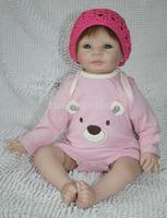 "New design 22"" newborn baby doll soft silicone vinyl reborn baby doll lifelike Handmade doll"
