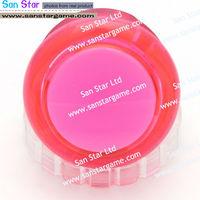 10pcs Pink color Original Seimitsu Arcade push button PS-14-KN 30mm Arcade button with build-in switch button Arcade part