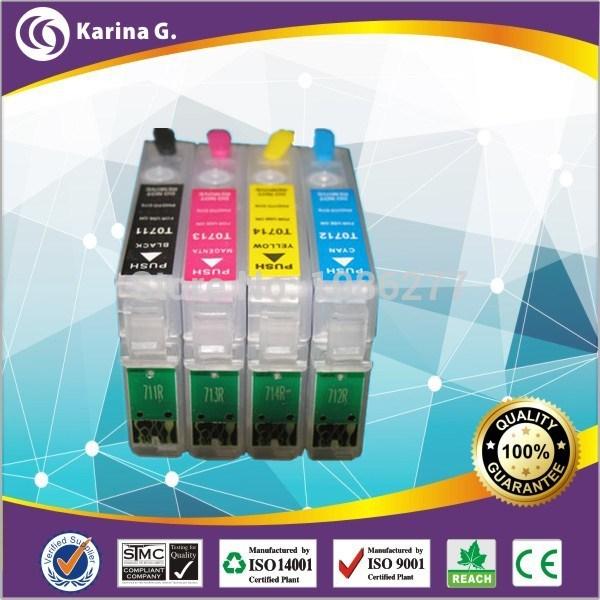 Картридж с чернилами Karina.G 4 PK t0711/t0714 Epson DX4050, DX4400, DX6050 Epson t0711/t0714 T0711-T0714 t0715 t0711 t0712 t0713 t0714 ink cartridge for epson d78 d92 d120 dx4000 dx4050 dx4400 dx4450 dx5000 dx5050 dx6000 dx6050 sx215