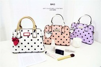 2014 New Lady style Bow Mini Candy colors Women Shoulder Seashells Handbags Color Purple White Pink