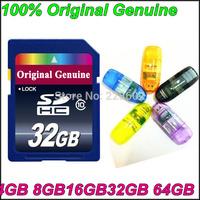 100%Original Genuine BRAND Class10 SD card 4GB8GB16GB 2GB64GB SDHC card SDXC card for Camera pass H2testw Memory Card FreeShipin