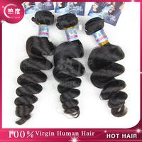 Unprocessed virgin hair free shipping, Virgin Peruvian curly hair loose wave,6A Grade,hair extension. 3pcs/lot ,8-30