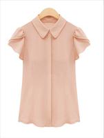 New 2014 summer dress women blouse blusas femininas work wear Chiffon shirt plus size S-XXL women's clothing