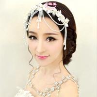 2 pieces/lot fashion crystal pearl wedding hair accessories  handmade bridal hair jewelry headpiece for women
