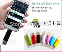 Free shipping Smart phone Micro USB Flash Drive,  128 GB OTG USB Flash Drive, Smart Phone U Disk for Android Phone