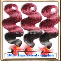 Grade 6A Brazilian virgin hair ombre hair extensions two tone Brazilian weave hair cheap body wave 3pcs lot Brazilian Body Wave