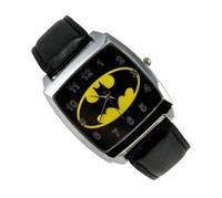 DC SUPER HEROES Black BATMAN WRIST STEEL WATCH Fashion Man Woman Boy Free Shipping