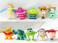 Wholesale 10 pcs/set Brand New Pixar Monsters University Action Figure Toys Monsters, Inc. Figure Toy For Kids Gift 5set/Lot
