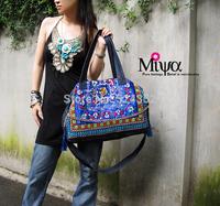 Bolsas femininas 2014 New Fahsion National Wind  Vintage Embroidery Handmade Cotton Denim Ethnic Woman messenger Handbags