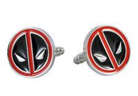 New Men`s Wedding Party Gift Super Hero Deadpool Fashion Cufflinks KZ20