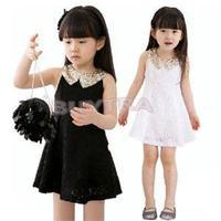 2014 New Desiner Children's Clothes/Lovely Summer Cute Girls' Dresses/High quality Party Girl Dress Black White
